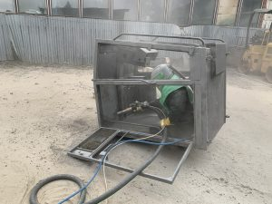 mobilné pieskovanie konštrukcie stroja